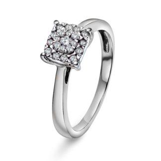 Victoria diamantring i 585 hvitt gull